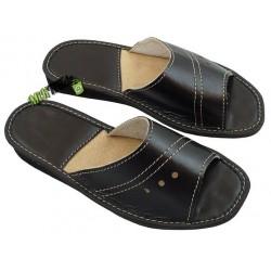 Klapki kapcie ciapy laczki pantofle góralskie damskie skórzane rozmiar 37