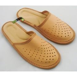Klapki kapcie ciapy laczki pantofle góralskie damskie skórzane rozmiar 40