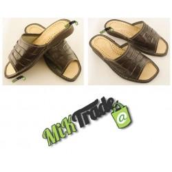 Klapki ciapy laczki pantofle kapcie damskie skórzane rozmiar 39