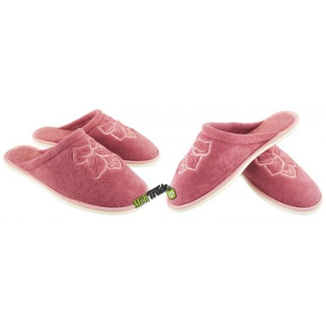 METEOR damskie rozmiar 38 frotte frotki klapki kapcie ciapy pantofle laczki domowe łapcie zakryte palce płaskie