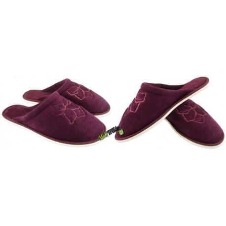 METEOR damskie rozmiar 36 frotte frotki klapki kapcie ciapy pantofle laczki domowe łapcie zakryte palce płaskie