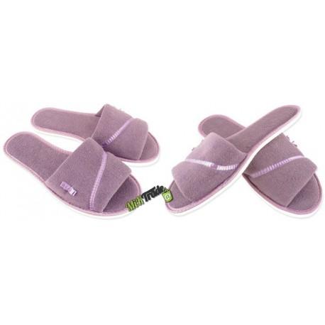 METEOR damskie rozmiar 35 frotte frotki klapki kapcie ciapy pantofle laczki domowe łapcie odkryte palce