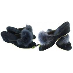 METEOR damskie na koturnie rozmiar 37 klapki kapcie ciapy pantofle laczki domowe odkryte palce