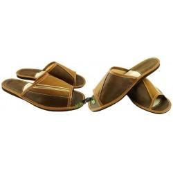 Męskie skórzane rozmiar 41 klapki kapcie ciapy laczki góralskie pantofle łapcie odkryte palce