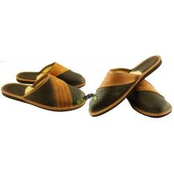 Męskie skórzane rozmiar 43 klapki kapcie ciapy laczki góralskie pantofle łapcie zakryte palce