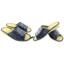 Damskie skórzane rozmiar 38 klapki ciapy laczki góralskie łapcie papcie pantofle domowe odkryte palce