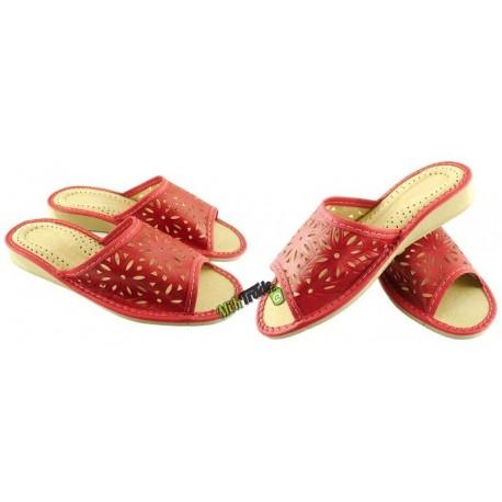 Damskie skórzane rozmiar 39 klapki ciapy laczki góralskie łapcie papcie pantofle domowe odkryte palce