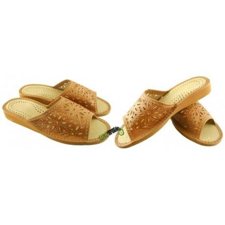 dbca2dd008342 Damskie skórzane rozmiar 38 klapki kapcie ciapy laczki góralskie pantofle  papcie łapcie domowe odkryte palce
