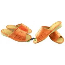 Damskie skórzane rozmiar 37 klapki kapcie ciapy laczki góralskie pantofle papcie łapcie domowe odkryte palce