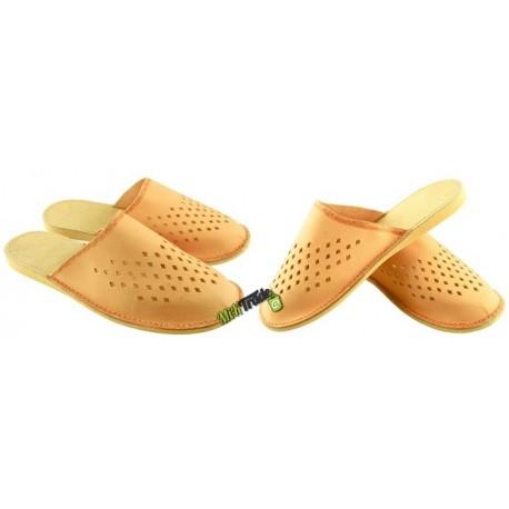 594be3c3132a3 Damskie skórzane rozmiar 35 klapki kapcie ciapy laczki góralskie pantofle  papcie łapcie domowe zakryte palce