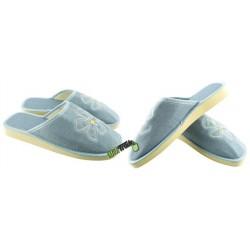 METEOR damskie rozmiar 39 klapki kapcie ciapy pantofle laczki domowe łapcie damskie materiałowe zakryte palce