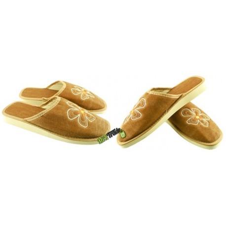 METEOR damskie rozmiar 40 klapki kapcie ciapy pantofle laczki domowe łapcie damskie materiałowe zakryte palce