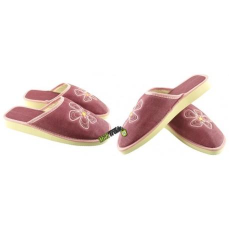 METEOR damskie rozmiar 38 klapki kapcie ciapy pantofle laczki domowe łapcie damskie materiałowe zakryte palce
