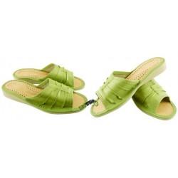 Damskie skórzane rozmiar 40 klapki ciapy laczki góralskie łapcie papcie pantofle domowe odkryte palce
