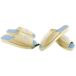 METEOR damskie rozmiar 40 klapki kapcie ciapy pantofle laczki domowe łapcie damskie materiałowe odkryte palce
