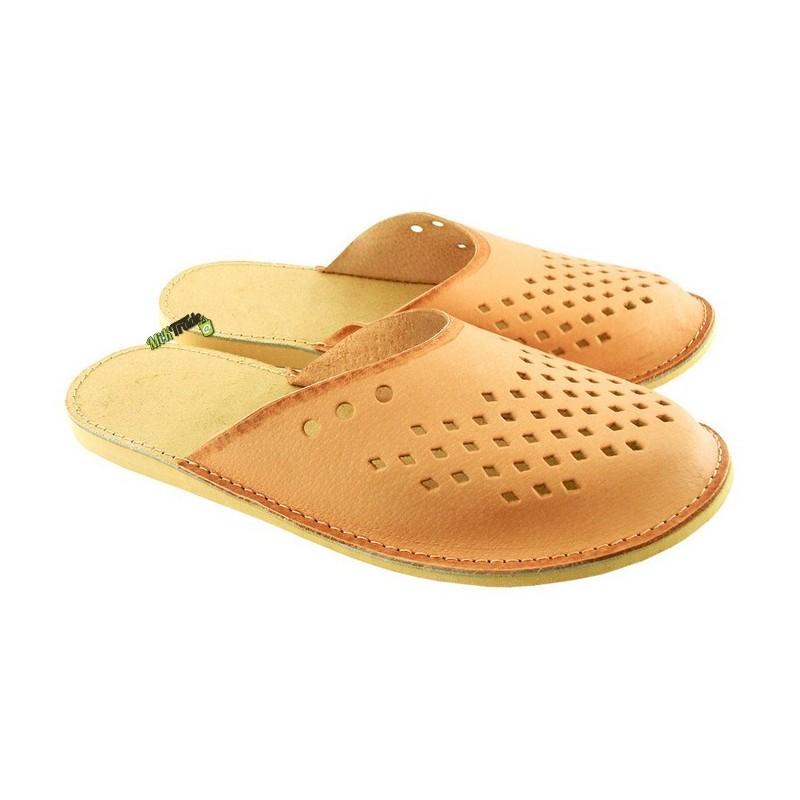 3d82ea3c08c68 Męskie skórzane rozmiar 42 klapki kapcie ciapy laczki góralskie pantofle  domowe łapcie papcie zakryte palce ...