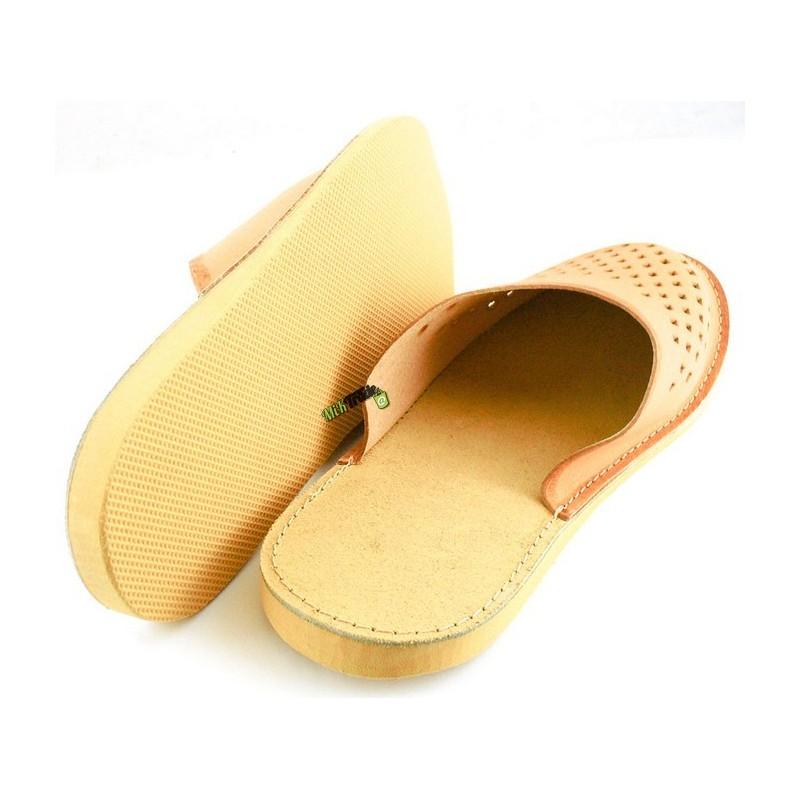 fa6df7daf2a9b ... Męskie skórzane rozmiar 42 klapki kapcie ciapy laczki góralskie  pantofle domowe łapcie papcie zakryte palce ...