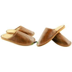 Męskie skórzane rozmiar 41 klapki kapcie ciapy laczki góralskie pantofle domowe łapcie papcie zakryte palce