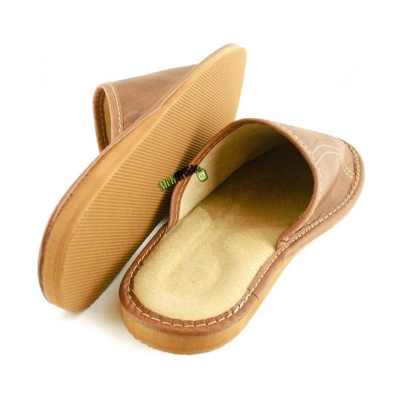 49c5287e6db6b ... Męskie skórzane rozmiar 44 klapki kapcie ciapy laczki góralskie  pantofle domowe łapcie papcie zakryte palce ...