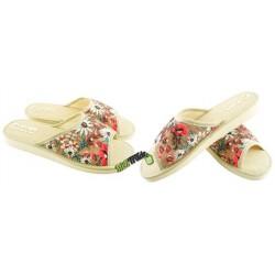 METEOR damskie rozmiar 40 klapki kapcie ciapy pantofle laczki domowe łapcie damskie materiałowe odkryte palce KOK315
