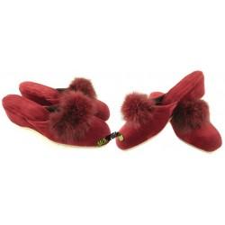 METEOR damskie na koturnie rozmiar 37 klapki kapcie ciapy pantofle laczki łapcie papcie domowe materiałowe zakryte palce KOK255