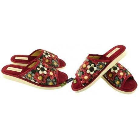 METEOR damskie rozmiar 36 klapki kapcie ciapy pantofle laczki domowe łapcie papcie damskie materiałowe odkryte palce KOK345