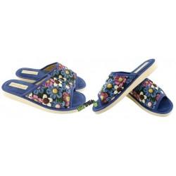 METEOR damskie rozmiar 38 klapki kapcie ciapy pantofle laczki domowe łapcie papcie damskie materiałowe odkryte palce KOK347