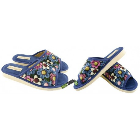 METEOR damskie rozmiar 37 klapki kapcie ciapy pantofle laczki domowe łapcie papcie damskie materiałowe odkryte palce KOK347