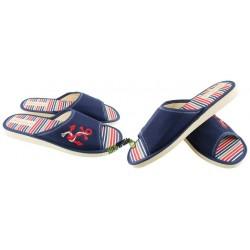 METEOR damskie rozmiar 41 klapki kapcie ciapy pantofle laczki domowe łapcie damskie materiałowe odkryte palce
