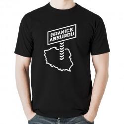 GRANICE ABSURDU koszulka męska bawełna t-shirt bawełniana z nadrukiem czarna