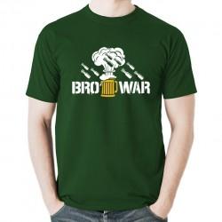 BroWar koszulka męska bawełna t-shirt bawełniana z nadrukiem zielona