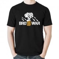 BroWar koszulka męska bawełna t-shirt bawełniana z nadrukiem czarna
