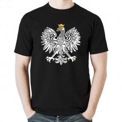 ORZEŁ RP koszulka męska bawełna t-shirt bawełniana z nadrukiem czarna