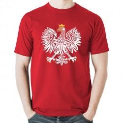 ORZEŁ RP koszulka męska bawełna t-shirt bawełniana z nadrukiem czerwona