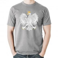 ORZEŁ RP koszulka męska bawełna t-shirt bawełniana z nadrukiem szara
