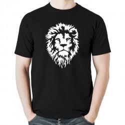 Lion Dread koszulka męska bawełna t-shirt bawełniana z nadrukiem czarna