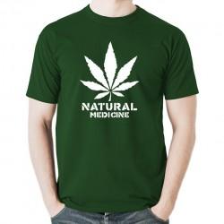 Natural Medicine koszulka męska bawełna t-shirt bawełniana z nadrukiem