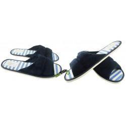 METEOR damskie rozmiar 38 klapki kapcie ciapy pantofle laczki domowe łapcie materiałowe odkryte palce płaskie