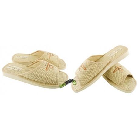 METEOR damskie rozmiar 37 klapki kapcie ciapy pantofle laczki domowe łapcie materiałowe odkryte palce