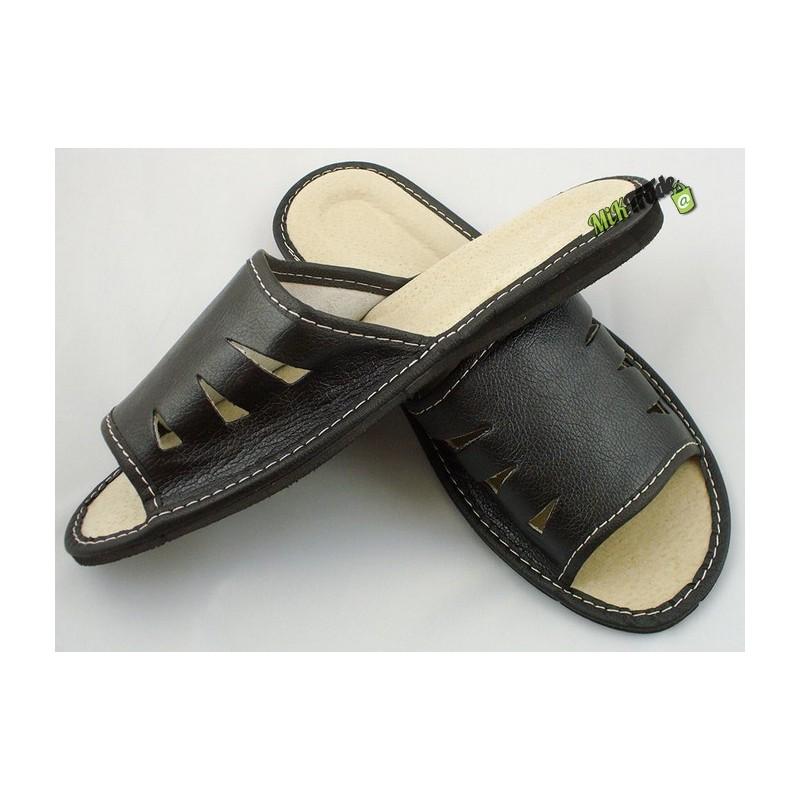 d48113d8a6dda Klapki kapcie laczki ciapy pantofle góralskie skórzane męskie rozmiar 44 ...