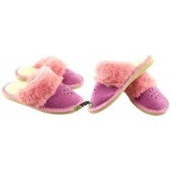 Dziewczęce ocieplane rozmiar 32 klapki kapcie ciapy laczki pantofle domowe góralskie dziecięce zakryte palce