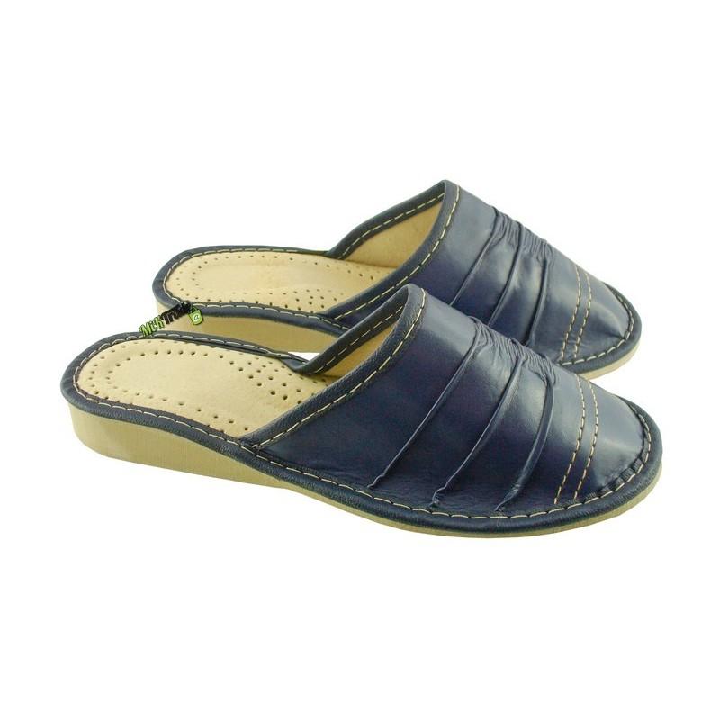 cc452ed37c151 Damskie skórzane rozmiar 38 klapki kapcie ciapy laczki pantofle papcie  góralskie łapcie domowe zakryte palce ...