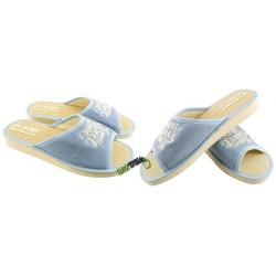 METEOR damskie rozmiar 38 klapki kapcie ciapy pantofle laczki domowe łapcie materiałowe odkryte palce