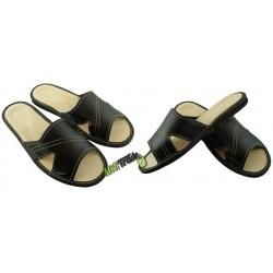Męskie skórzane rozmiar 41 klapki kapcie laczki pantofle laczki góralskie papućki łapcie domowe papcie odkryte palce