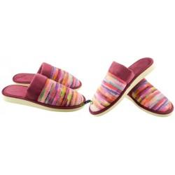 METEOR damskie rozmiar 39 klapki kapcie ciapy pantofle laczki domowe łapcie papcie damskie papućki materiałowe zakryte palce 077