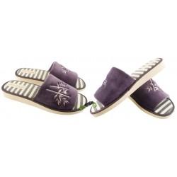 METEOR damskie rozmiar 38 klapki kapcie ciapy pantofle laczki domowe łapcie papcie damskie materiałowe odkryte palce KOK350