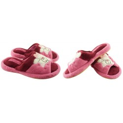 METEOR damskie rozmiar 38 klapki kapcie ciapy pantofle laczki domowe łapcie papcie damskie materiałowe odkryte palce