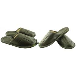 Męskie skórzane rozmiar 42 klapki kapcie ciapy laczki góralskie domowe papućki łapcie papcie zakryte palce