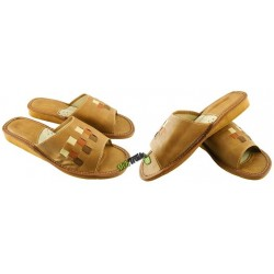 Damskie skórzane rozmiar 40 klapki kapcie ciapy laczki góralskie łapcie pantofle domowe odkryte palce