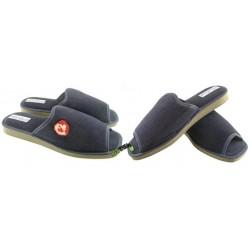 METEOR męskie rozmiar 41 sztruks klapki kapcie ciapy pantofle laczki domowe materiałowe papcie łapcie papućki odkryte palce